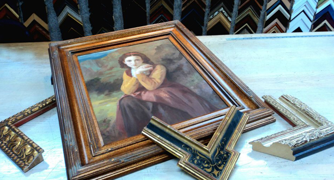Painting with Gold Frames